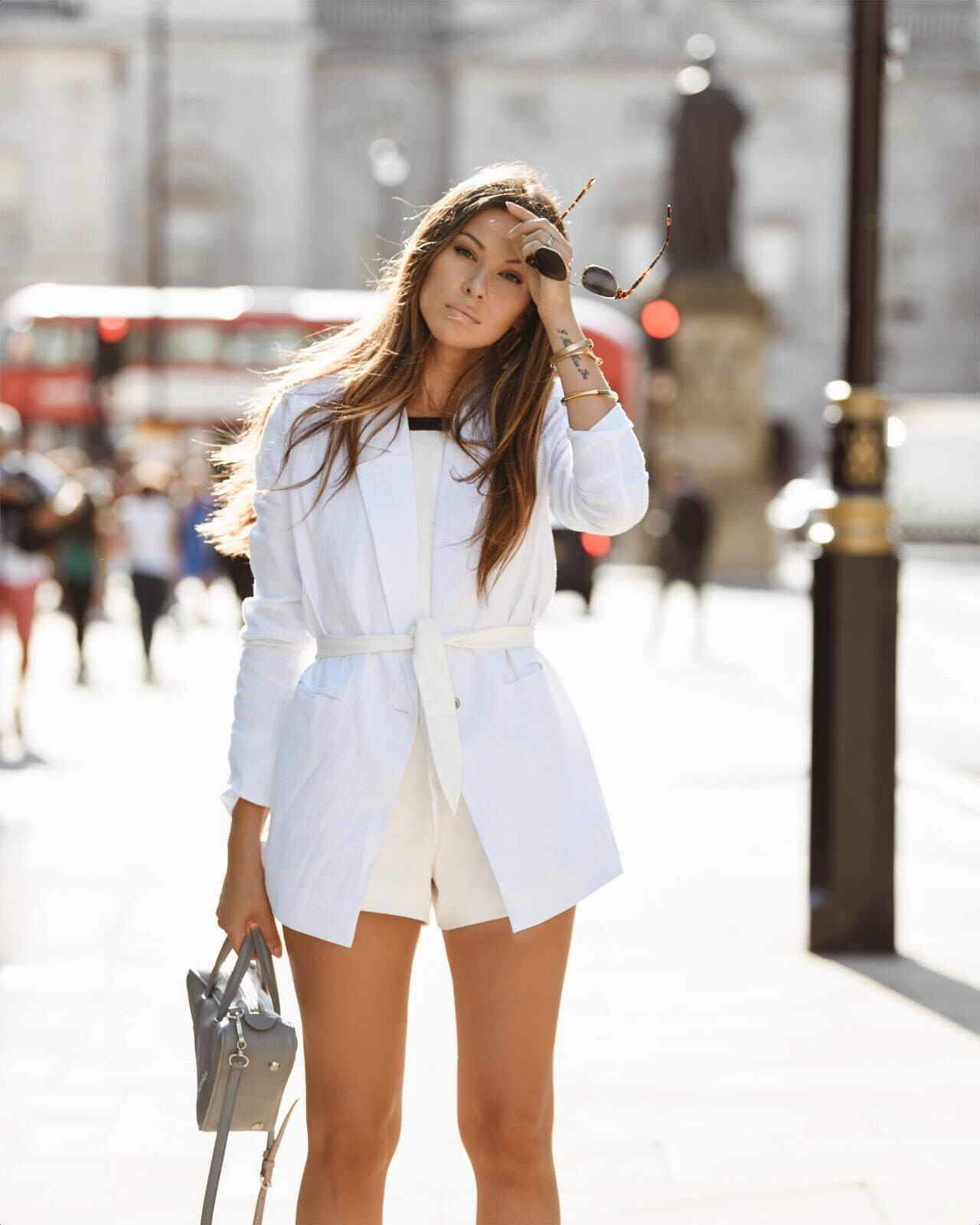 white suit blazer