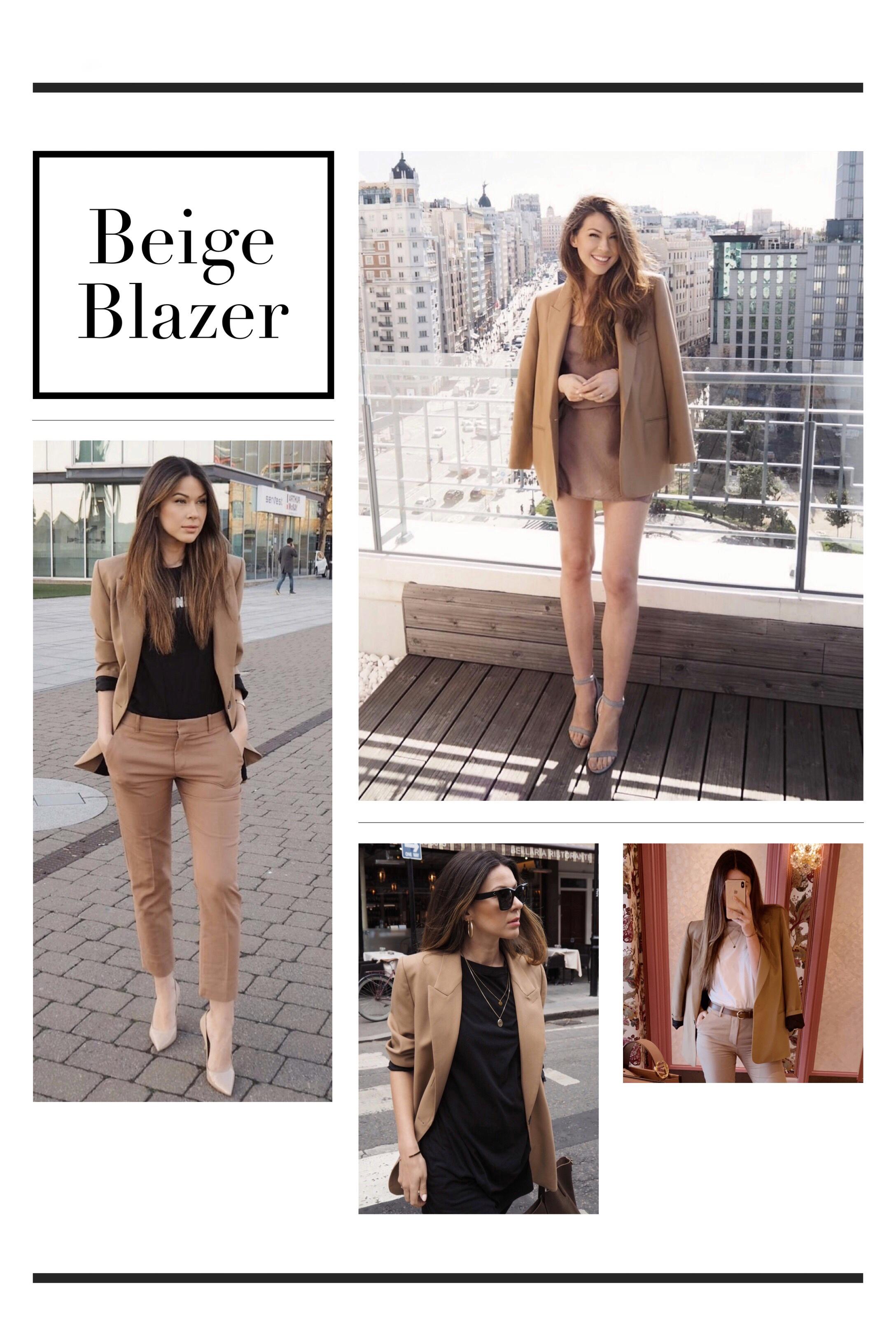 rewearing beige blazer
