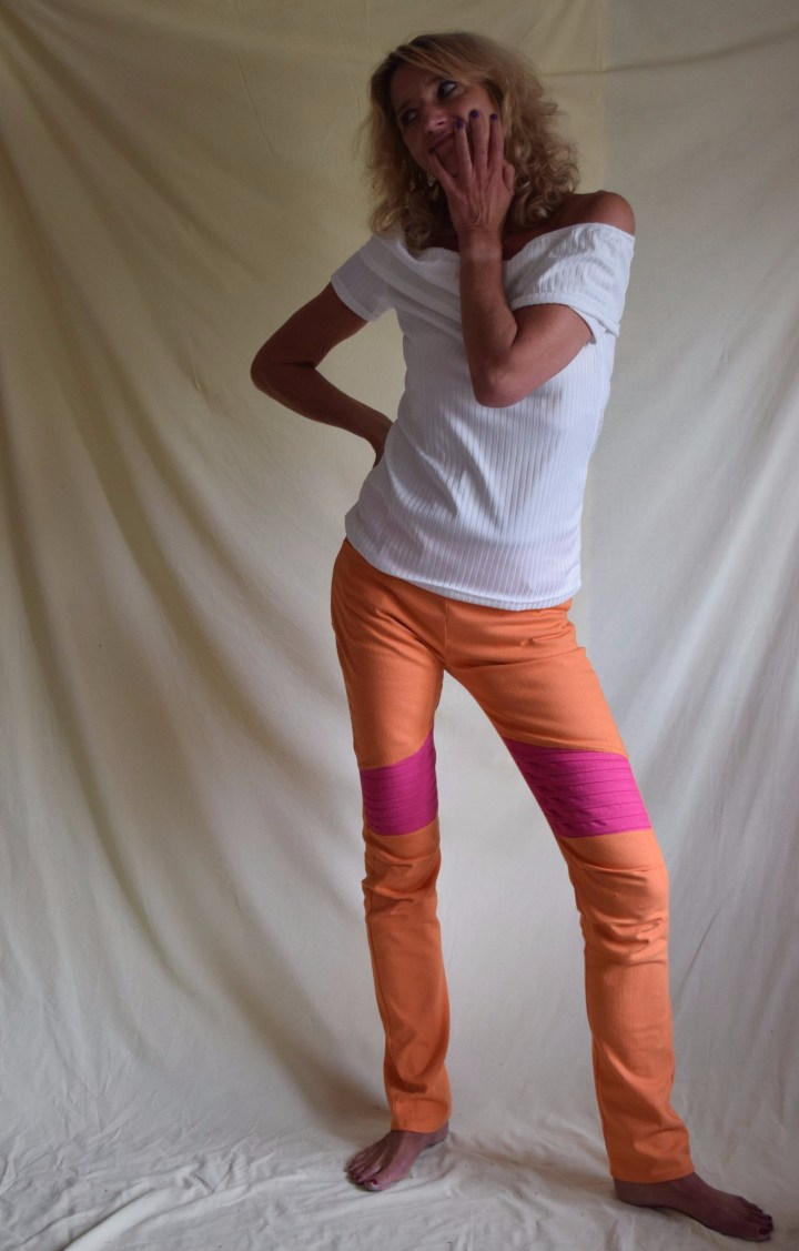 12colours of handmade fashion, orange, bikerleggings, cassie, tweed and greet, janis, artemis, selbstgenäht, schnittmuster,