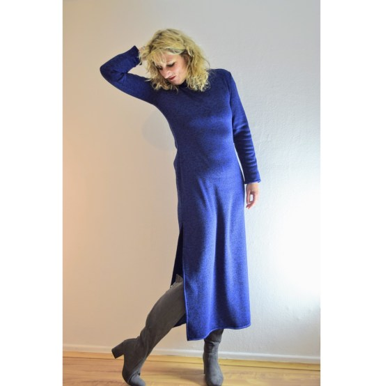 Kleid Ruska named clothing diy fashion kleid nähen strickkleid nähen, winterstyle 2018/19 mode ü50, derdiedaspunkt