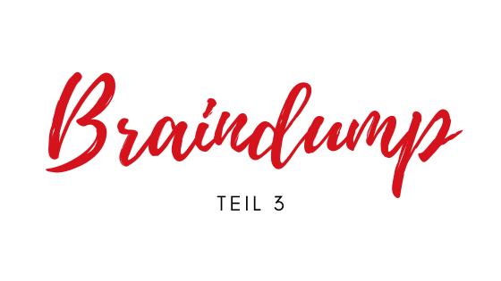 Braindump – in 3 Schritten zu mehr Ordnung im Kopf (Teil 3)