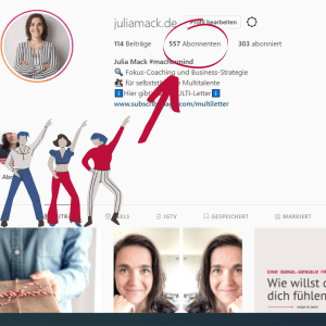 Screenshot Insta-Profil juliamack.de