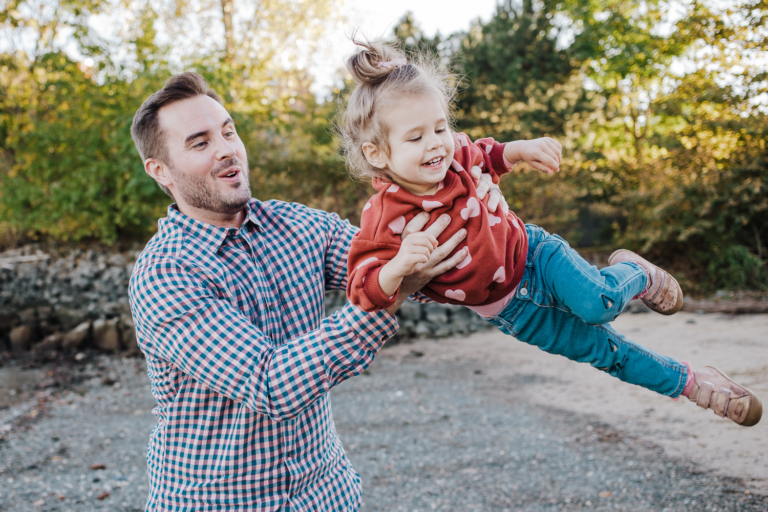 Lifestyle family photo session - daddy daughter - Hoboken New Jersey