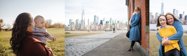 liberty state park photo session location. Mother daughter pictures at liberty state park with skyline backdrop and nature backdrop