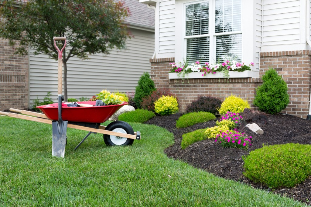 Updated landscaping is a simple and beautiful home upgrade project.