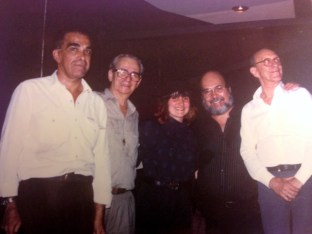 Juliana Areias and Os Cariocas with Serevino left and Badeco right 1991