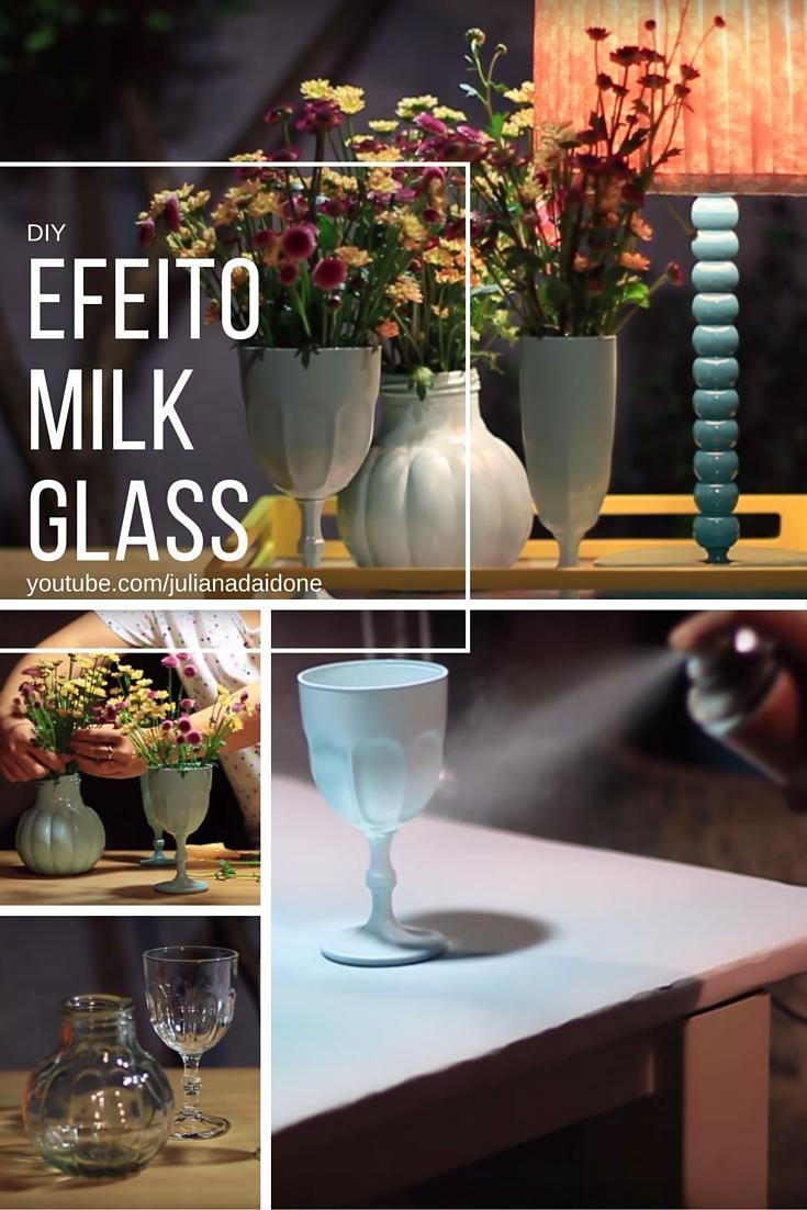 O efeito milk glass é obtido de forma fácil e rápida. Aqui eu dou o passo a passo e algumas dicas. Assista o video com esse diy e faça você mesmo!