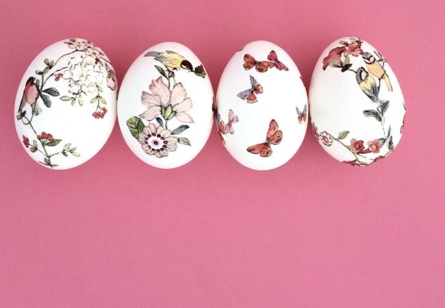 DIY - Ovo de Páscoa com découpage: Não é difícil de fazer, mas é preciso um pouco de paciência e cuidado. Enjoy!