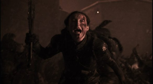 Lyanna Mormont running to her death.