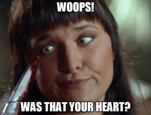 Xena Meme Heart