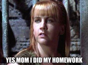 Xena Meme Homework
