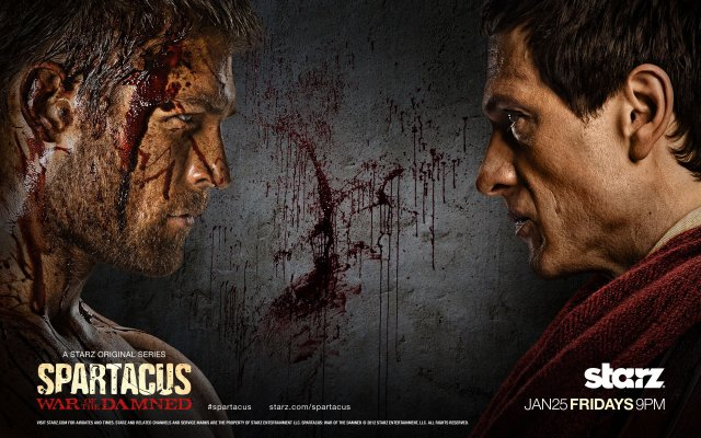 Spartacus: War of the Damned. Liam McIntyre as Spartacus and Simon Merrells as Crassus