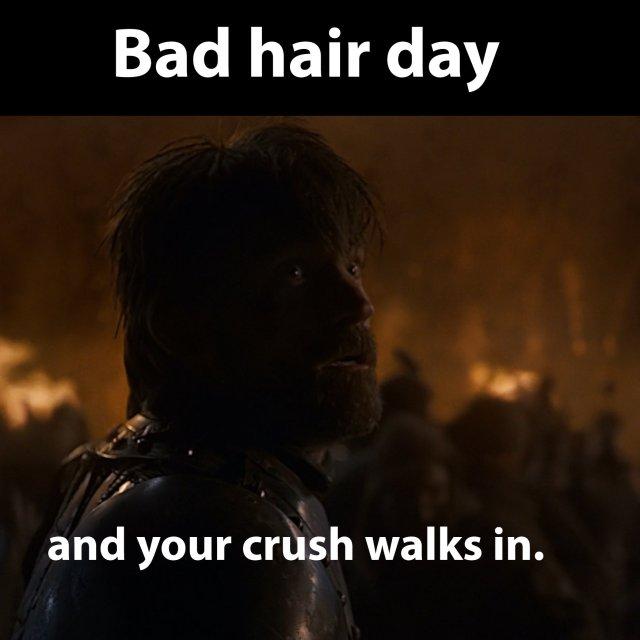 Jaime Lannister - Bad hair day.
