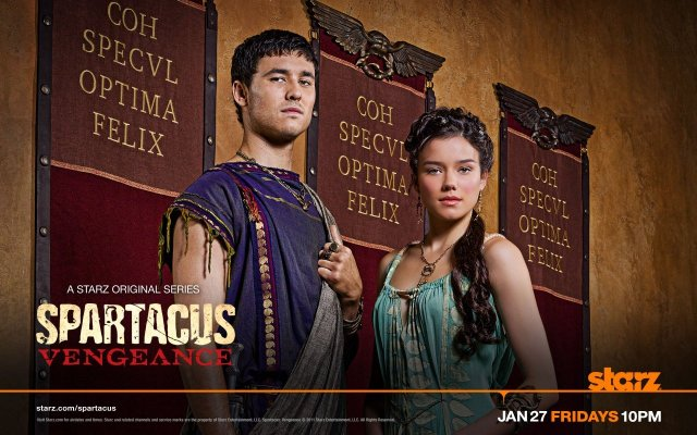 Spartacus: Blood and Sand. Tom Hobbs as Seppius and Hanna Mangan Lawrence as Seppia