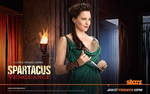 Spartacus: Vengeance. Lucy Lawless as Lucretia