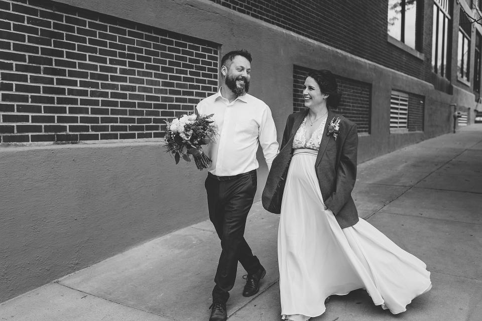 Omaha Wedding; Bridal & Groom Portraits in the Old Market; Florals by One & Only; Photographed by Juliana Montane Photography