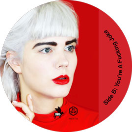 """Bec Sandridge Fog And The Flame 7"""" Record Stickers"""
