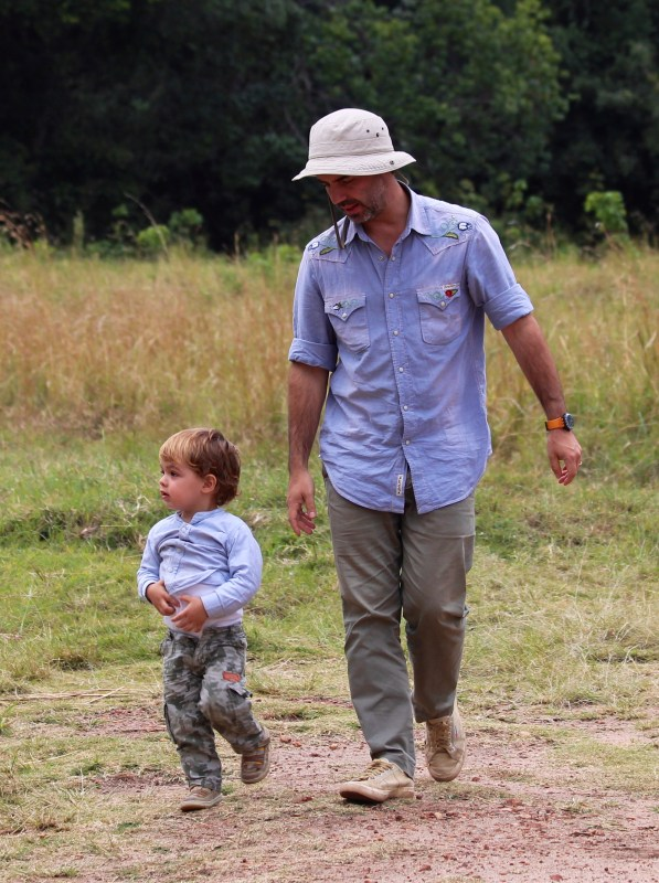 Con papá de safari