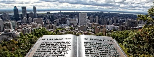 View of Montreal from atop Mount Royal, looking south to the St. Lawrence river