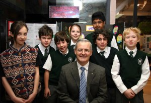 Marc Garneau helping kids reach for the stars