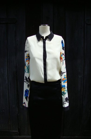 Tibi Belle printed silk shirt