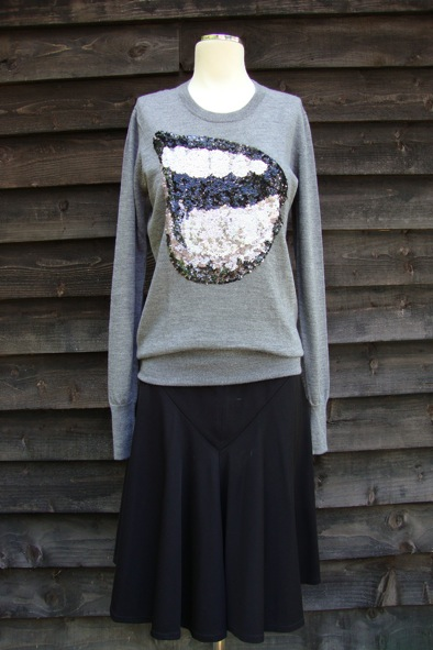 Markus Lupfer sequined lips knit