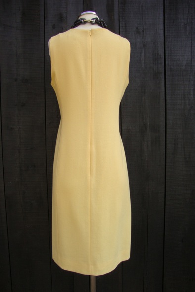 Goat yellow wool crepe dress