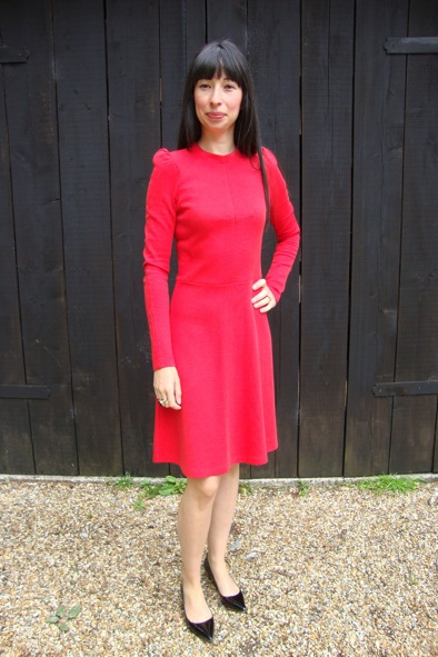 Carven red jersey dress