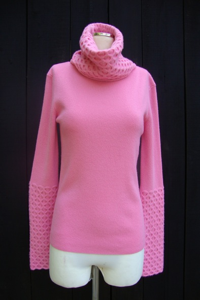 Temperley pink roll neck
