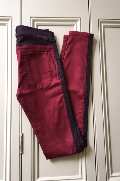 Current Elliot crimson rider leggings
