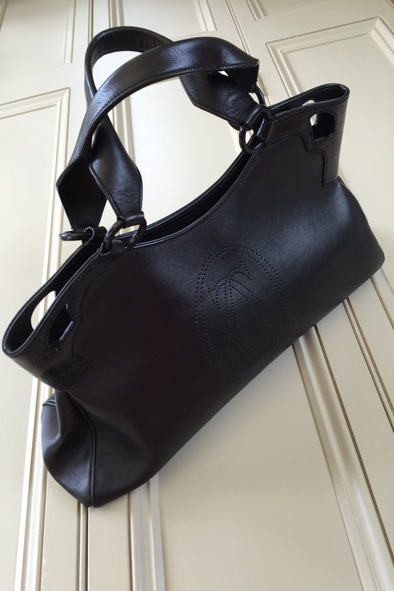 Marcello De Cartier black leather bag