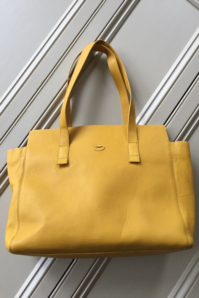 Paul Costelloe large yellow leather bag