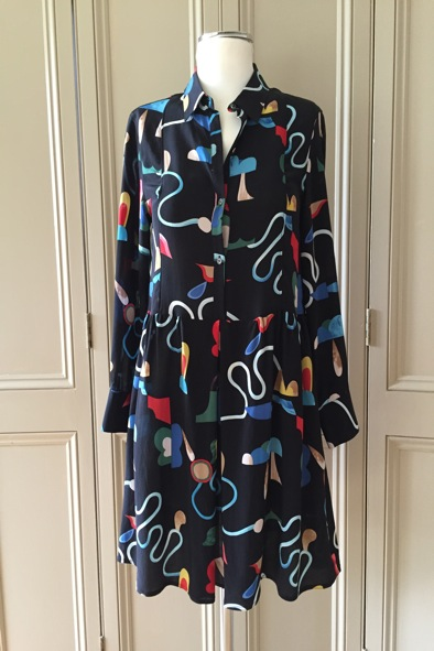 M.i.h sixties rainbow print silk dress