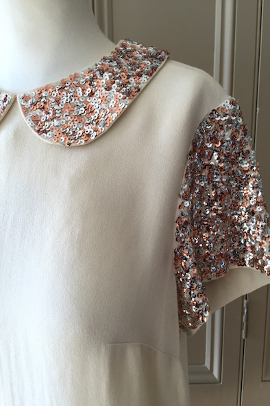 Malene Birger sequin collar top