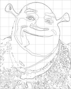 Color scheme portrait painting. Grid drawing. Lesson plan.