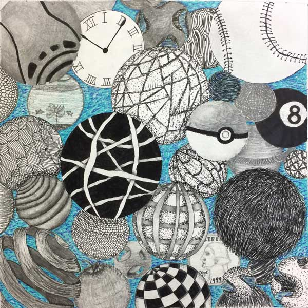 Texture balls Patterns and designs Art lesson