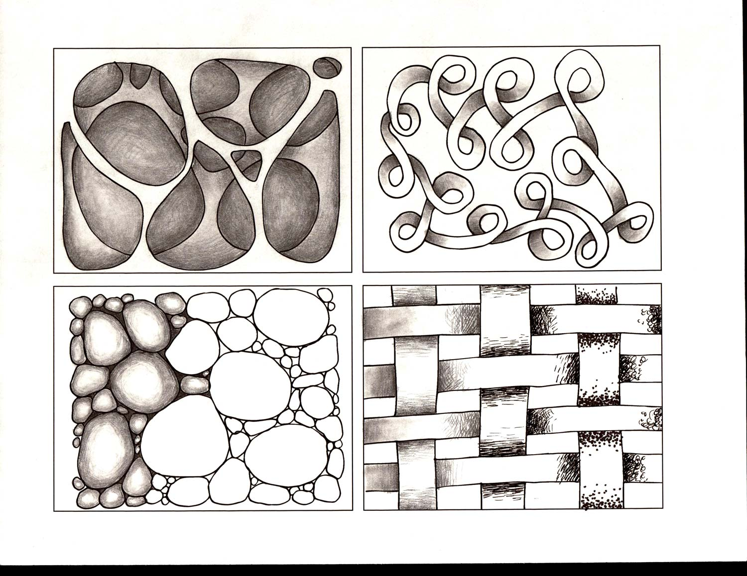 Pencil Drawing Shapes Worksheet