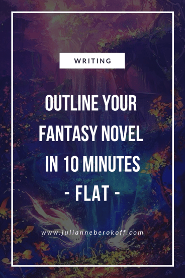 How to Outline Your Fantasy Novel Right Now - Julianne Berokoff
