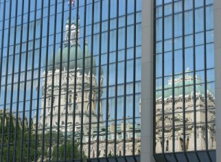 Statehouse reflection