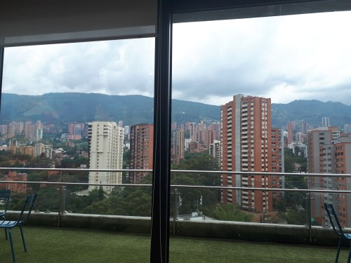 wework medellin coworking space view