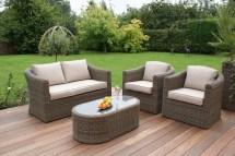 curved rattan sofa