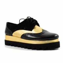 Pantofi din piele naturala Misty Negru