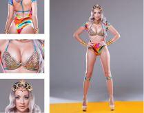 Jambalaya Demi Bra with High Waist Body Suit
