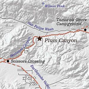 Plum Canyon area map