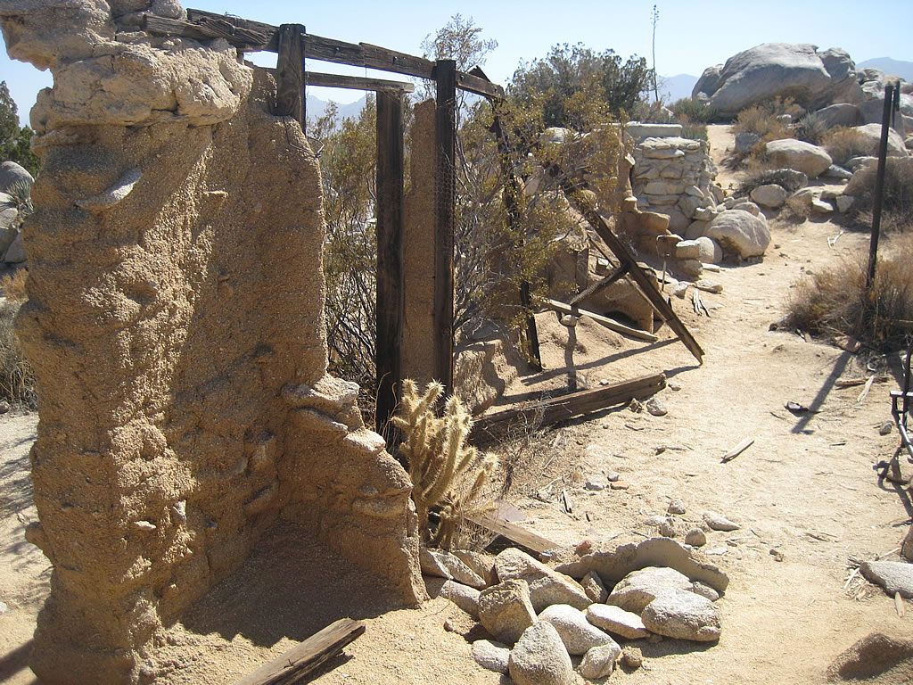 Ruins of the adobe home