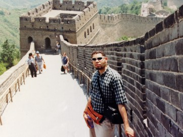 Julian at Great Wall (Badaling) in 1996