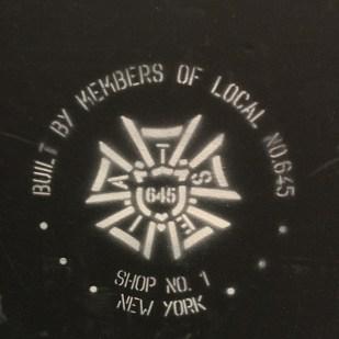 Set built by union labor