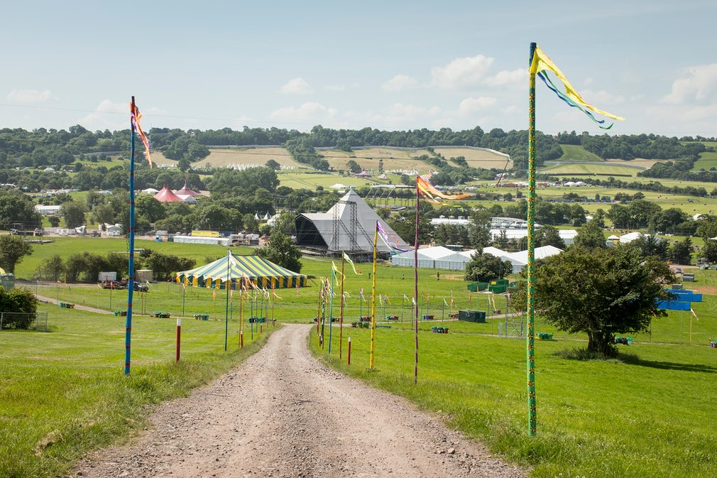 Who built the pyramid? See the Glastonbury festival take shape – in pictures