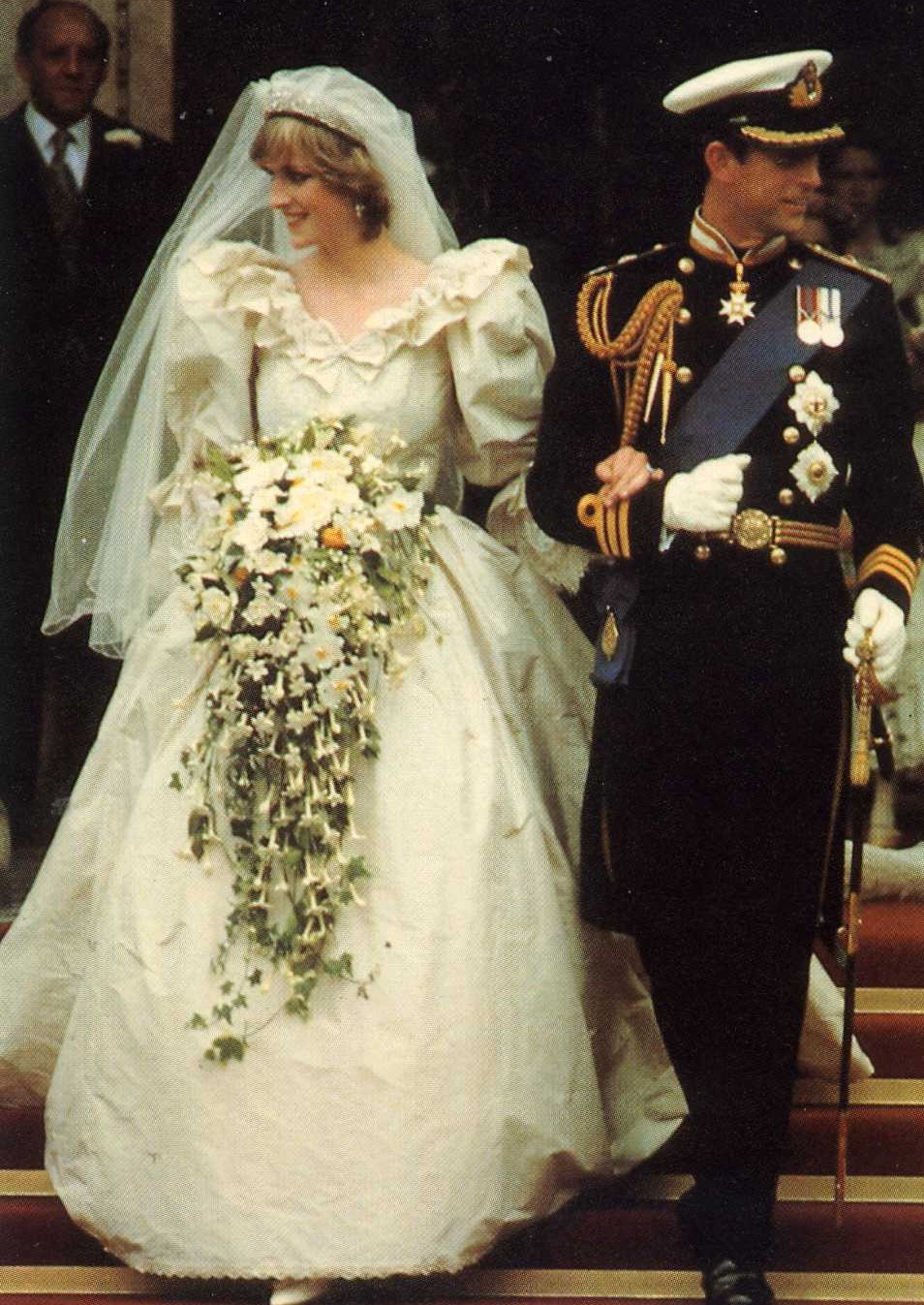 BRITISH WEDDINGS FROM THE PAST PRINCE CHARLES  LADY