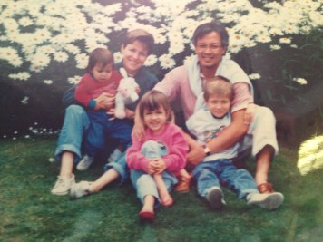 Little me on the left with my mother, father, sister, and brother